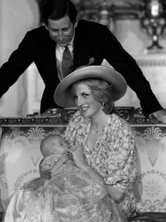 Prince Charles, the Prince of Wales with Wife Princess Diana and First Born Son Prince William by Mayra Quesada