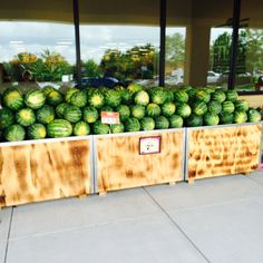 Sprouts brings lots of produce choice including these colorful watermelons.