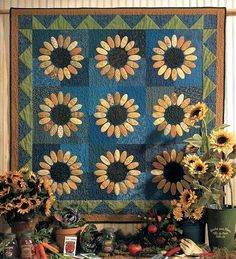 Sunflowers Quilt Pattern - The Virginia Quilter