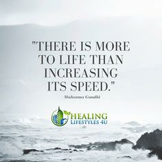 """Slow down. Slow down. Slow down. Take a breath. """"There is more to life than increasing its speed."""" – Mahatma Gandhi"""