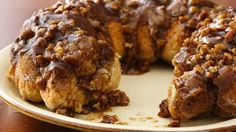 Make an ooey, gooey, caramel-drenched monkey bread in less than an hour. *to try w/the homemade bisquick*