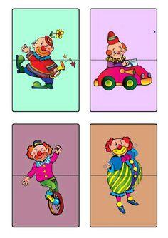 Planche 3 - Les clowns à assembler