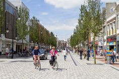 Woonerf: The Dutch Solution to City Planning - Nature's Path - WOONERF – a low-speed environment where people using different modes of travel share the space, - Urban Landscape, Landscape Design, Brighton, Natures Path, New Urbanism, Street Stock, Commercial Street, Public Realm, Ville France
