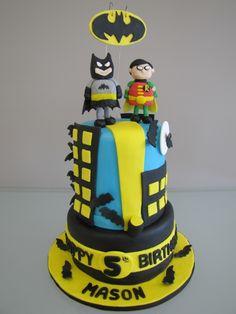 Batman & Robin Birthday Cake
