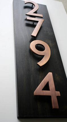 Most current Pictures copper House Numbers Suggestions House owners tend not to often think about the house numbers visibility. In addition to the quantity of are aw. House Address, Address Plaque, Door Numbers, House Numbers, Address Numbers, Articles En Bois, Copper House, House Number Plaque, Up House