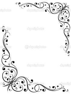 simple card border design elegant free fancy borders and frames of simple card border design Page Borders Design, Border Design, Pattern Design, Wood Burning Stencils, Wood Burning Patterns, Simple Borders, Borders And Frames, Molduras Vintage, Easy Frame