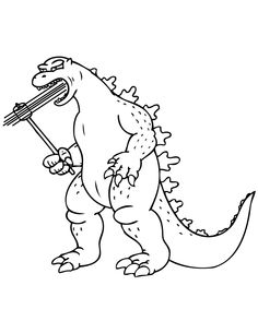 Free Godzilla Coloring Pages   AZ Coloring Pages