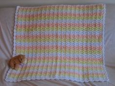 Shells and Double Crochets Baby Afghan | FaveCrafts.com