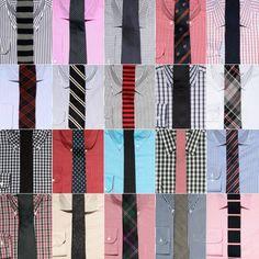 Cómo combinar las corbatas con las camisas