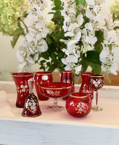 Bohemia Glass - Made in Czechoslovakia - Hand Painted Vintage Collectable- Stunning Red With Gold- Priced per Piece Bohemia Glass, Make Photo, Bank Holiday, Gold Price, Hand Painted, Red, How To Make, Vintage, Vintage Comics
