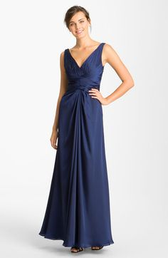 Vneck Charmeuse Gown - Lyst