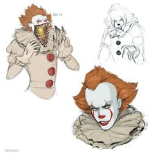 Well, the movie was good, and this is the first time i`m drawing clowns and generally anything on horror x) Actually Pennywise was REALLY good,&nb. The Dancing Clown Freaky Clowns, Creepy, Horror Movie Characters, Horror Movies, Clown Names, Le Clown, Pennywise The Dancing Clown, Bff, Horror Icons