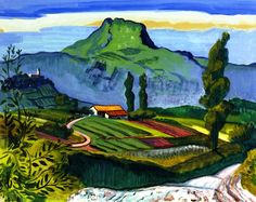 French Countryside / Max Pechstein - 1931
