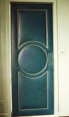 Upholstered door.  Sweet.