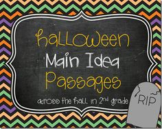 Halloween Main Idea Passages: FREE!