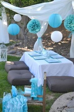 Lovely outdoor party idea