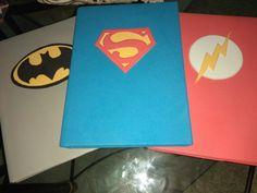 Capas de cadernos dos super-heróis em Eva Yuri, Notebooks, Superhero, Cape Clothing, Craft, School Supplies