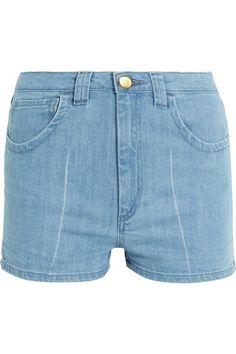 TOPSHOP UNIQUE Holyport denim shorts. #topshopunique #cloth #shorts