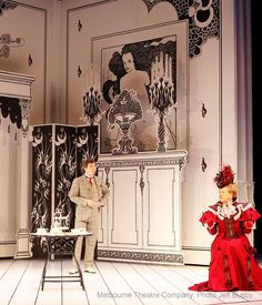 The Importance of Being Earnest (2011) Melbourne Theatre Company - starring Geoffrey Rush, Set and Costumes by Tony Trip (photo by Jeff Busby)