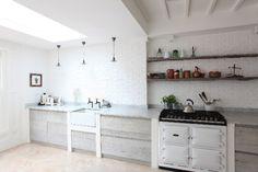White Brick Wallpaper Kitchen, Home Kitchen Wallpaper, Accent Wall In Kitchen, Kitchen Walls, Kitchen Reno, Exposed Brick Kitchen, Exposed Brick Walls, Faux Brick Panels, Brick Paneling