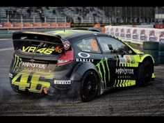 2 wheels 4 wheels rossi is amazing! Valentino rossi at the monza rally show 2013 Ford Fiesta St, Valentino Rossi 46, Vr46, Grid Girls, 1957 Chevrolet, Monster Energy, Rally Car, Jdm Cars, Motogp
