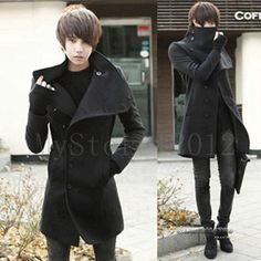 New Korean Style Men Single Breasted Cultivate Leisure Trench Coat Jacket Coat. I would totally wear that. $29.99