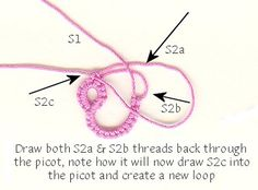 Split Chain Stitch Join Demo - ©1998-2006, Paradise Treasures