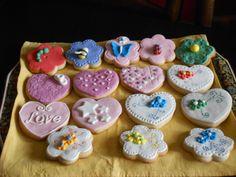 Galletas corazones y flores (fondant)