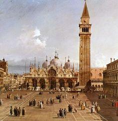 Canaletto. Piazza San Marco, Venice, Italy, c. 1730-1735. Fogg Museum, Cambridge, MA, USA.