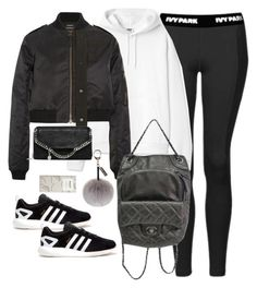 """""""Untitled #2969"""" by theaverageauburn on Polyvore featuring Topshop, Anthony Vaccarello, STELLA McCARTNEY, adidas, Chanel and Helen Moore"""