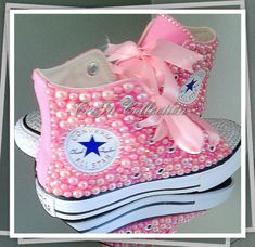 This item is unavailable Cute Baby Shoes, Baby Girl Shoes, Cute Baby Clothes, Girls Shoes, Bedazzled Shoes, Bling Shoes, Sparkly Converse, Toddler Converse, Pink Kids