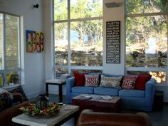 Living room decor, modern country casual