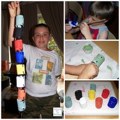 Toilet Paper Tube Snake, Recycle, Craft, Kids, Snakes, Reptile Crafts, Kids Crafts, Homeschool, Apologia, Apologia Land Animals, Toilet Paper,