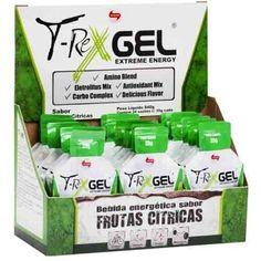 T-REX GEL é um produto a base de carboidratos de rápida absorção para promoção energética e recuperação de glicogênio, contém estimulantes para aumento do desempenho esportivo e recuperação muscular.