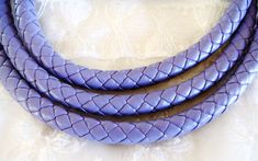 Lavender Light Purple Braided Eco Leather Cord Faux by vess65, $2.35