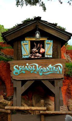 Splash Mountain, Disney World, Florida (terrifying drop at the end! Disney World Rides, Disney World Florida, Disney World Resorts, Disney Vacations, Disney Parks, Walt Disney World, Splash Mountain, Disney World Magic Kingdom, Disney Aesthetic