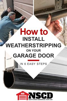 Learn how to replace garage door weather seal (aka weatherstripping or bottom seal). Installing garage door weather seal is easier than you think. Learn how to do it yourself with this article and video courtesy of North Shore Commercial Door. Garage Door Weather Stripping, Garage Door Weather Seal, Garage Door Bottom Seal, Garage Door Insulation, Garage Door Repair, Garage Doors, Garage Door Opener Installation, Garage Door Maintenance, Door Draft