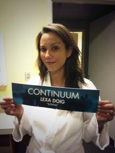 Lexa Doig on her last day on set for Continuum Season 2 - May 30, 2013 (via @LexaShmexa on Twitter)