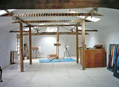 Renovated barn artist studio