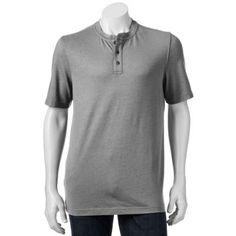 Croft & Barrow® Solid Easy-Care Henley - Men $12.99