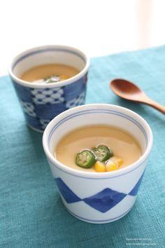 とうもろこしの冷製茶碗蒸し by 神田 美紀さん / レシピサイト「ナディア / Nadia」/プロの料理を無料で検索