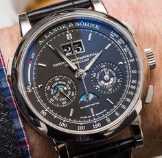 """""""#SIHH2016: A. Lange & Söhne Datograph Perpetual Tourbillon Watch Hands-On - by Ariel Adams - see it hands-on in the stunning photo gallery, & read more…"""""""