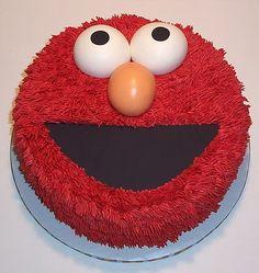 I think I will make an Elmo cake just to make myself smile. I love Elmo, yes I… 2 Birthday Cake, Elmo Birthday, 2nd Birthday Parties, Birthday Ideas, Elmo Cake, Sesame Street Party, Elmo Party, Take The Cake, Cupcake Cookies