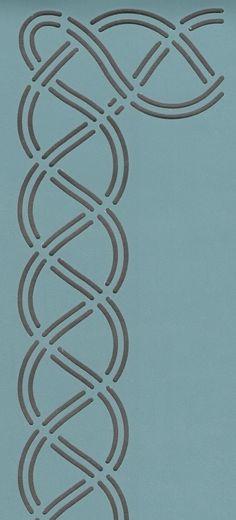 Celtic Border - The Stencil Company Celtic Symbols, Celtic Art, Quilting Tools, Quilting Designs, Quilting Ideas, Celtic Border, Stencils, Animal Skeletons, Celtic Patterns