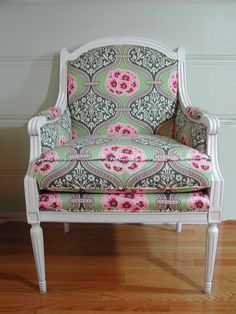I like the style of chair, with the funky fresh fabric. New traditional.