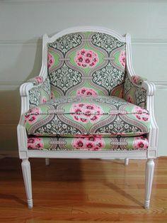 cute pink & green chair