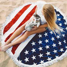 Beach Summer Scarves for Women American Flag Tassels Beach Round Toalla Mandala Tapestry Hippie Throw Roundie Yoga Mat Towel Circle Beach Towel, Beach Mat, Beach Yoga, Yoga En Plein Air, Bohemian Tapestry, Mandala Tapestry, Tapestry Beach, Mandala Blanket, Wall Tapestry