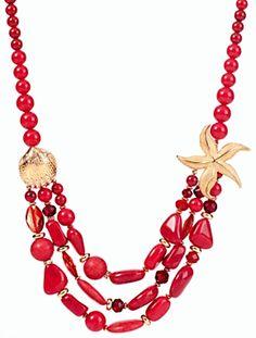 Talbots - Starfish & Bead Necklace | Jewelry |