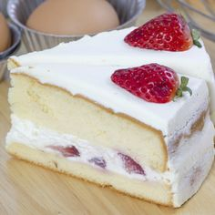 Strawberries And Cream Cake Recipe from Grandmother's Kitchen