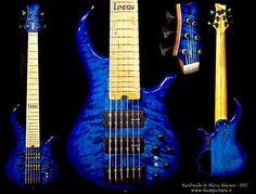 """Groovy Blue Whale - by Loud guitars"" Custom Bass Guitar, Bass Guitars, Blue Whale, Instrumental, Erotica, Art Forms, Horns, Musicians, Music Instruments"